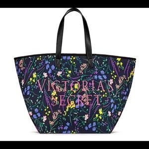 🆕 Victoria Secret Floral Canvas Tote